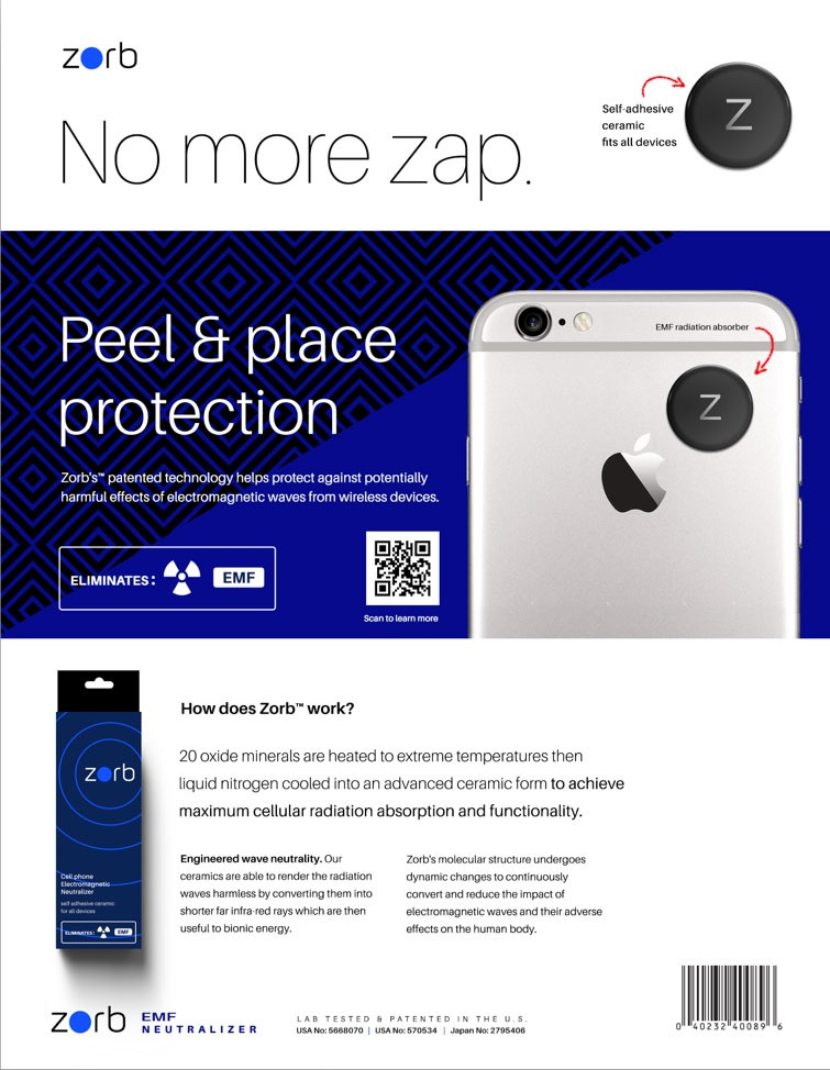 Zorb™ Cell Phone EMF Radiation Shield